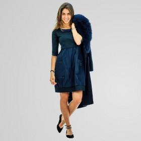 Vicario 5 - Abito Streach donna intaffetà colore blu