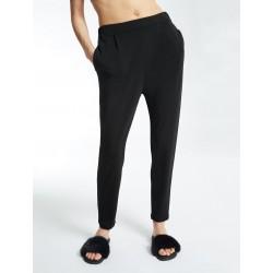 Max Mara - Pantalone Polka donna in jersey crepe di viscosa nero (Max Mara 37860476)