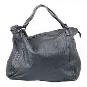 StileVivo by Arianna La Porta - Borsa Sacca Black donna in pelle stropicciata