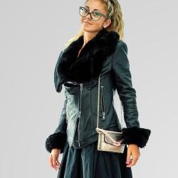 MySkin - Giubbotto Alaska donna invera pelle nero