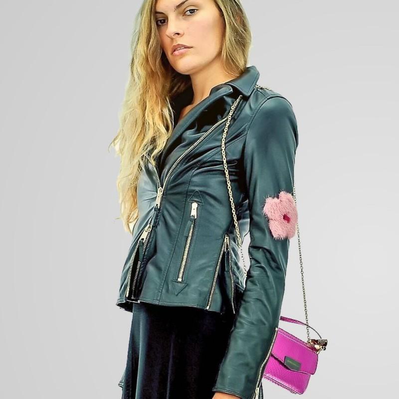 MySkin - Chiodo Visone donna invera con inserti visone