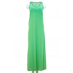 Manila Grace - Vestito a righe Picca donna a righe verde o arancione