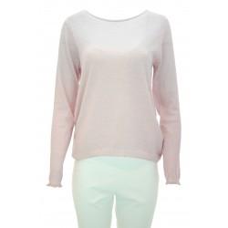 European Culture - Maglia lana Remar donna in lana di colore rosa