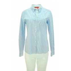 Manila Grace - Camicia righe Belfart donna in cotone a righe azzurre