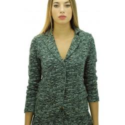 Ottod'Ame - Blazer felpa Calliope donna in lana e cotone
