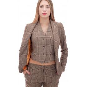 Ottod'Ame - Giacca Amanda donna in lana e cotone