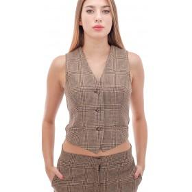 Ottod'Ame - Gilet Arianna donna in lana e cotone