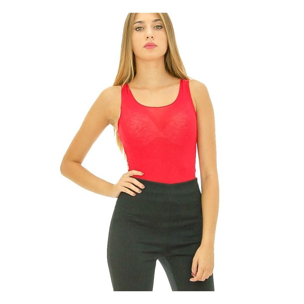 No-Nà - Canotta spalla larga Calla donna in misto cashmere