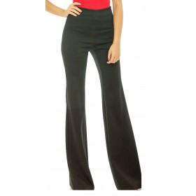 No-Nà - Pantalone donna a zampa vita alta elasticizzato