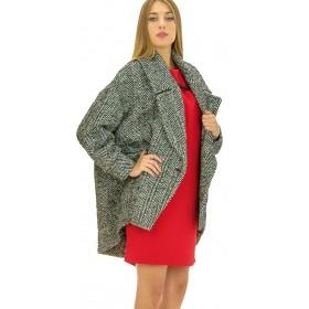 Ottod'Ame - Cappotto spigato Londra donna in misto lana